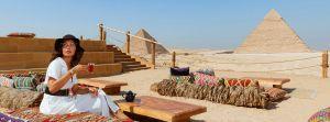 9 Pyramids Lounge - primul restaurant turistic din Egipt deschis la piramidele din Giza